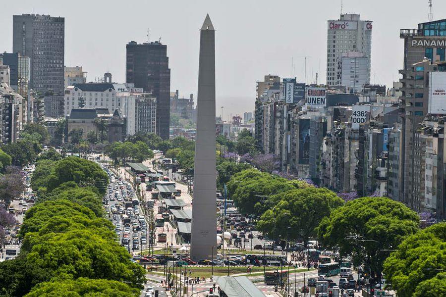 Vista del obelisco en Buenos Aires